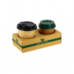 Vaso Cartón Bio Compostable 237 ml para Café