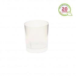 Tapa Plastico PET Hermetica Transparente para tarrina 30 ml