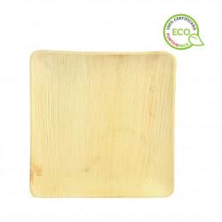 Mini plato de fibra para aperitivo Blanco 10x5.2cm