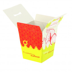 Caja para fritos automontable Kraft Grande
